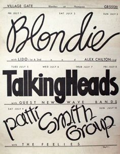 WOW Concert Poster from NYC 1977 ... i'm in.