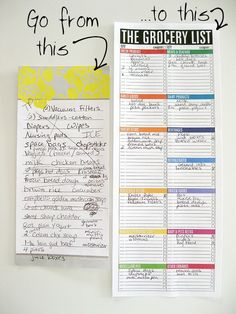 Grocery List  Organizing Organizations And Planners