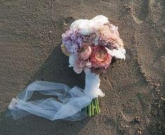 pretty flowers on the beach