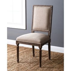 Shop for Abbyson French Vintage Linen Rectangular Back Dining Chair. Get free shipping at Overstock.com - Your Online Furniture Outlet Store! Get 5% in rewards with Club O!