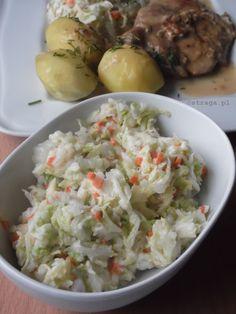 Przepisy na surówki do obiadu - Damsko-męskie spojrzenie na kuchnię Low Carb Recipes, Potato Salad, Dom, Grains, Potatoes, Ethnic Recipes, Salads, Low Carb, Potato