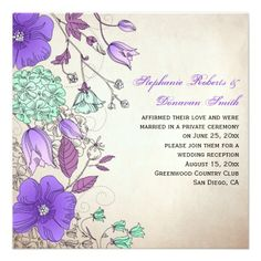 Vintage Purple Lavender Mint Wildflowers Weddings