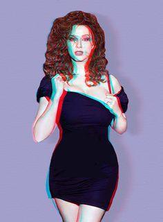 Christina Hendricks 3D Anaglyph   Flickr - Photo Sharing!