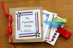 My Favorite Things Paper Bag Book ~ Free Printables Paper Bag Books, American Heritage Girls, Book Girl, After School, Girl Scouts, Girl Gifts, Free Printables, Gift Wrapping, Activities