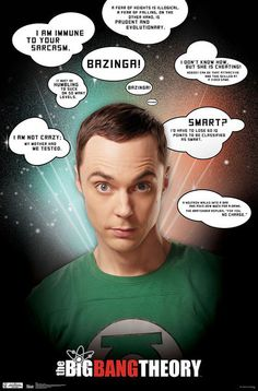 Póster The Big Bang Theory. Sheldon