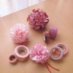 アクセサリー作りやラッピングに使える♡可愛い『マステポンポン』の作り方 Washi Tape Cards, Washi Tape Diy, Handmade Flowers, Diy Flowers, Crafts To Make And Sell, Diy And Crafts, Diy For Kids, Crafts For Kids, Tape Crafts