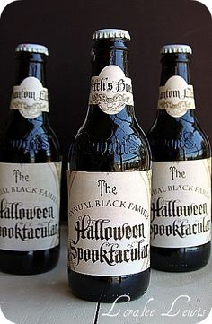 Drink Wrap Labels . The Haunted Mansion Collection . Loralee Lewis
