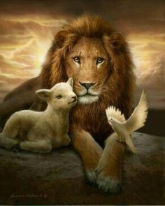 He came as a Lamb, the Lamb of God And He will return as the Lion of Judah Er kam als Lamm, das Lamm Gottes, und er wird als der Löwe von Juda zurückkehren Lion Pictures, Jesus Pictures, Lion Images, Lion Of Judah Jesus, King Jesus, Lion And Lamb, Prophetic Art, Jesus Art, Biblical Art