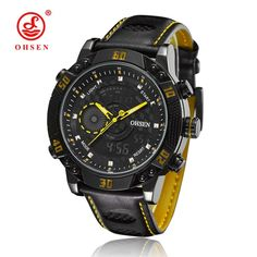 Awesome Cars luxury 2017: $42.39 (Buy here: alitems.com/... ) 2016 OHSEN Quartz-watch Brand Men Relogio Di...  New bestsellers from Aliexpress in October 2016