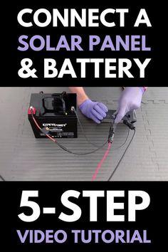 Solar Panel Battery, Diy Solar Panels, 100 Watt Solar Panel, Homemade Solar Panels, Solar Energy System, Diy Solar System, Alternative Energie, Solar Energy Projects, Dyi