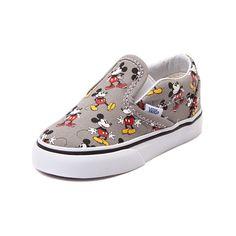 Toddler Disney x Vans Mickey Slip-On Skate Shoe, Gray, at Journeys Shoes