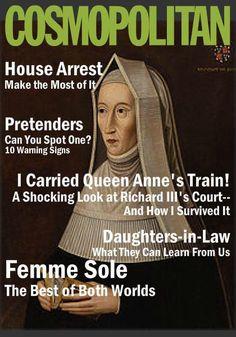 Tudor Cosmo - Margaret Beaufort.  Very frivolous of her!