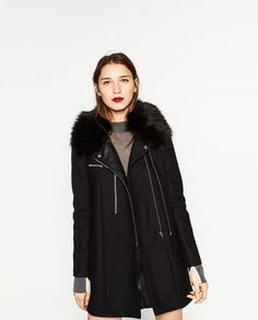COAT WITH ZIPS-View all-OUTERWEAR-WOMAN | ZARA United States