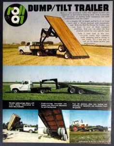 Denair 1970 Roll On Dump/Tilt Truck Trailer Sles Brochure