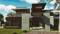 Contemporary House Design | By AH Design House House Design, Mansions, Contemporary, House Styles, Home Decor, Decoration Home, Manor Houses, Room Decor, Villas