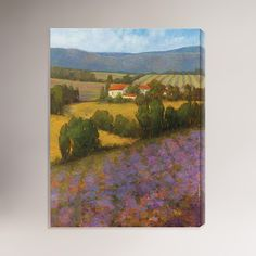 6a95c61c365 This June Lavender Landscape Canvas Wall Art giclee print by Kim Coulter is  created using fade resistant inks and gallery-wrapped giving it a museum  quality ...
