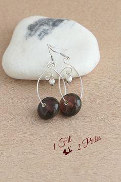 Les femmes Dangle Boucle d/'oreille ajourée motif Gemme Pierre De Lune Boucles D/'oreilles Bijoux