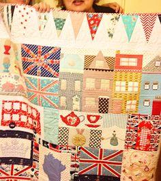 Stunning UK inspired quilt!