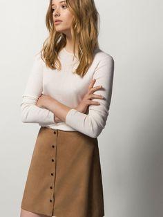 5e345fa17 Las 109 mejores imágenes de falda ante botones en 2019   Moda de ...