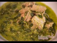 Carne de cerdo en salsa verde con verdolagas - Receta fácil - YouTube