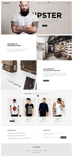 Best Hipster Ecommerce Themes #wordpress