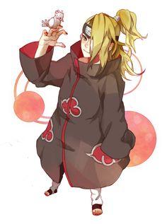 Pixiv Id 3336483, NARUTO, Deidara, Half Ponytail, Akatsuki Uniform, Akatsuki (NARUTO)