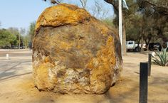 The 30-ton Gancedo meteorite in Argentina that was found in September, 2016 is now on display in Gancedo, Chaco, Argentina. Credit and copyright: Pelin Rodriguez.