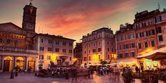Romantic places in Rome, Italy.