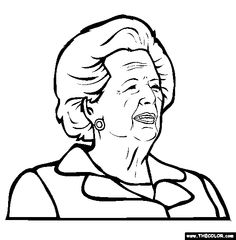 margaret thatcher coloring page free thatcher on