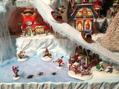 2012 North Pole Village-toboggans