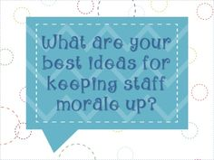 What are your best ideas for keeping staff morale up?  Click on the pin to get a ton of ideas from other teachers!  And feel free to add your below as well!