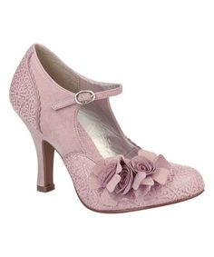 Another great find on #zulily! Dusty Pink Floral Emily Ankle-Strap Pump #zulilyfinds