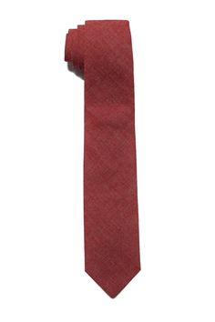 Milworks Tie Red Chambray