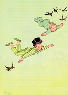 my vintage book collection (in blog form).: In the shop.... Peter Pan - illustrated by Marjorie Torrey