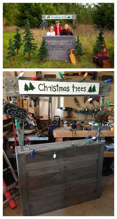 My wife wanted a kids Christmas tree stand for a prop for her photography sessions. Pallets worked perfectly for this project. The sign is removable and Christmas Tree Stand Diy, Christmas Trees For Kids, Christmas Mini Sessions, Pallet Christmas, Christmas Minis, Christmas Ideas, Christmas Garden, Grinch Christmas, Christmas Snacks