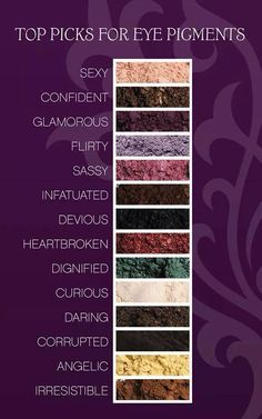 Here's a few of the top picks for Younique Mineral Pigments! #pigments #minerals #eyeshadow