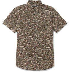Marc by Marc JacobsKyle Short-Sleeved Printed Cotton-Poplin Shirt|Made In Sri Lanka