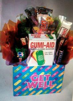 Get well! Candy bouquet.