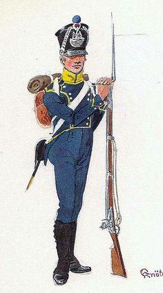 Volteggiatore di un reggimento di fanteria di linea