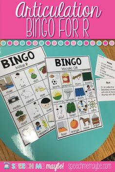 This product is perfect for articulation and language mixed groups. I have so many students working on R and Vocalic-R this year that could also benefit from a little language instruction as well. Use these bingo boards to target which R they need to work Articulation Therapy, Articulation Activities, Speech Therapy Activities, Language Activities, Toddler Activities, Receptive Language, Speech Language Pathology, Speech And Language, Self Contained Classroom