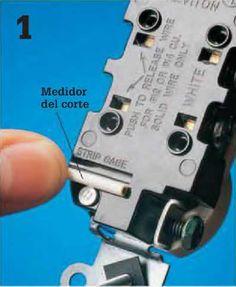 Instalaciones eléctricas residenciales - Medidor de corte para punta de cable