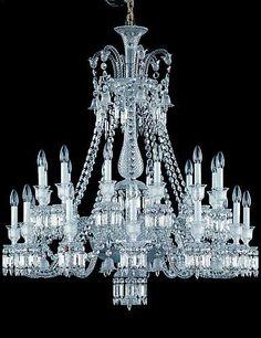 baccarat zenith chandelier 24 light crystal classics 5720000 43h x 41 baccarat zenith arm black crystal chandelier