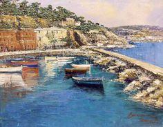 Posilipo - oil on canvas by Domenico Caiazza