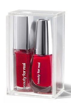 This gift set includes Red Illuminating Light Up Nail Polish and Red Illuminating Light Up Lip Gloss. $35.00