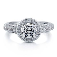 ca0615e1b Silver Halo Milgrain Engagement Ring Made with Swarovski Zirconia 1.51 CT |  Jewelry & Watches