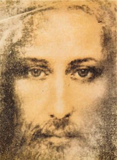 Jesus Christ painted from the Shroud of Turin