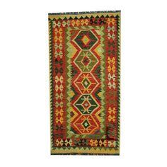 Herat Oriental Afghan Hand-woven Tribal Vegetable Dye Kilim Rust/ Rug