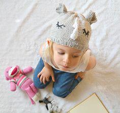 Easy DIY knit rhino hat