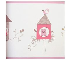 בורדר לקיר  #בנות #room #design #חדרי_ילדים #girls #pink #ורוד #kids #קיר