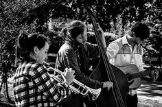 Music in the park by Michaela Sibi - Streetmusicians in the City Hall Park of Vienna/April 2013